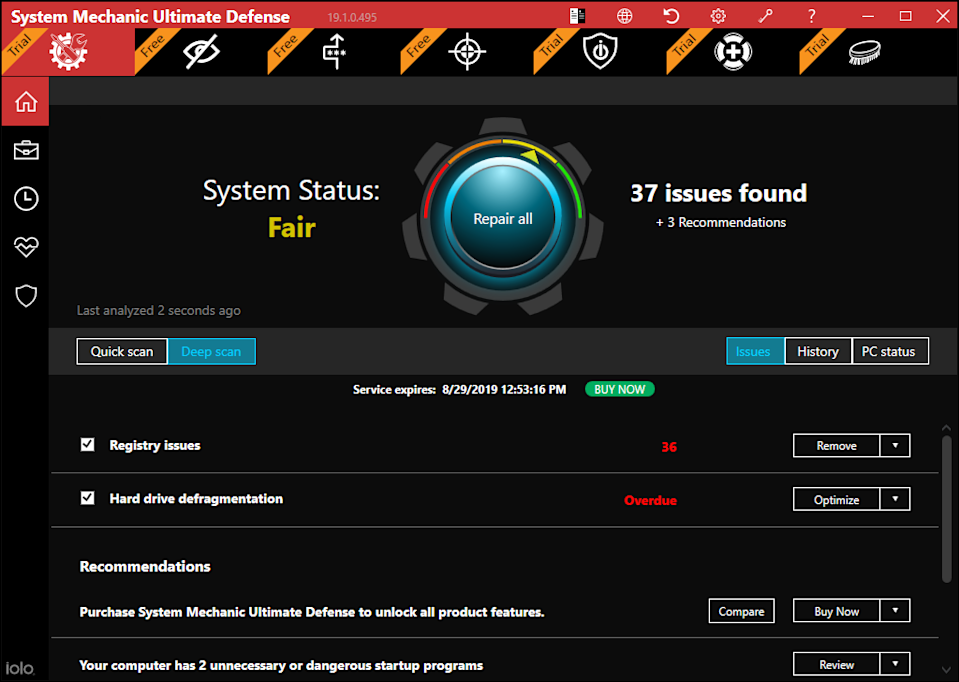 System Mechanic is powerful online security software. (Photo: Iolo Technologies)