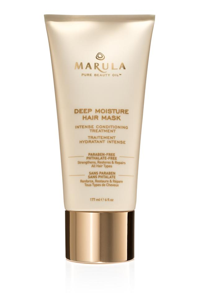 """<p>Suitable for all hair types—including colored or damaged—this treatment uses oleic acid to help marula oil penetrate and hydrate.</p><p><em><a rel=""""nofollow"""" href=""""http://rstyle.me/~8axML?mbid=synd_yahoobeauty"""">Marula Deep Moisture Hair Mask, $36</a></em></p>"""