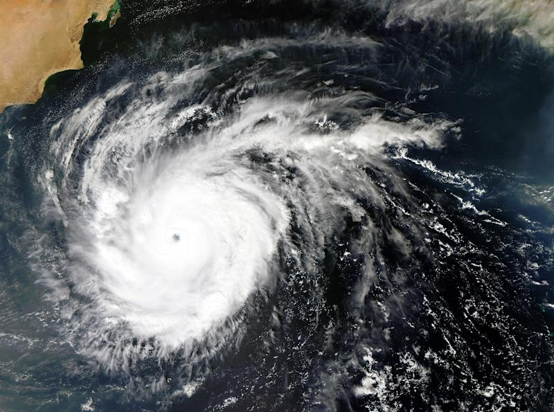 A NASA satellite image shows tropical cyclone Chapala in the Arabian Sea in early November 2015 (AFP Photo/-)