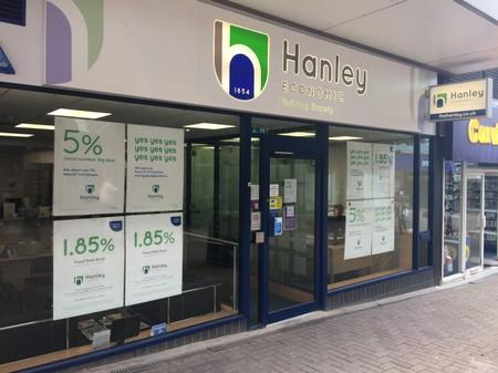 A general view of the Hanley Economic Building Society branch in Stoke-on-Trent