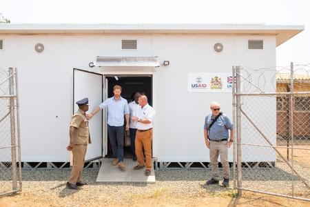 Prince Harry visits the Mauwa Health Centre in Blantyre