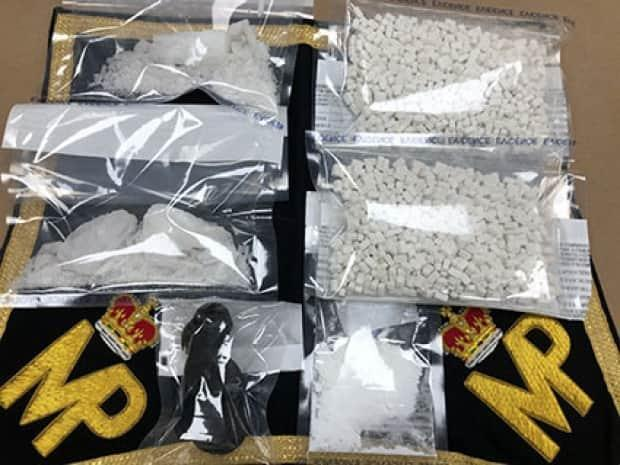 RCMP publicized the drug seizure in January, which included eight ounces of crystal methamphetamine. Ryan Joseph Gallant and one other man were arrested Jan. 10 as they crossed the Confederation Bridge from New Brunswick. (RCMP - image credit)