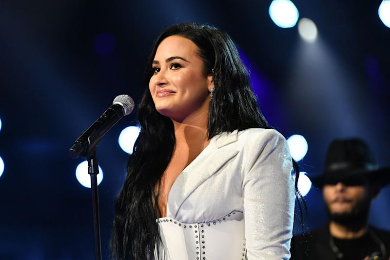 """Demi Lovato recently opened up about overexercising and wishing someone recognized the signs of her eating disorder on the podcast """"Pretty Big Deal With Ashley Graham."""" (Photo: Emma McIntyre via Getty Images)"""