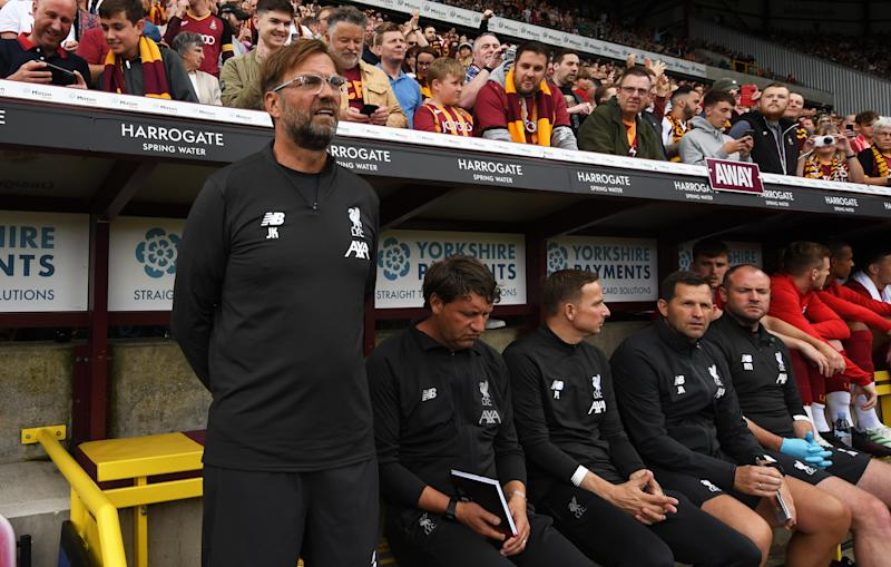 Jurgen Klopp wants to see out his contract at Liverpool. (Credit: Getty Images)