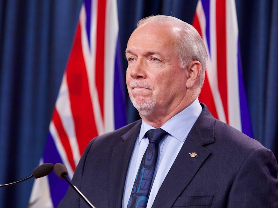 B.C. Premier John Horgansaid on Thursday that the province is ready and willing to work with the 60 individual school districts to implement a vaccine mandate. (Mike McArthur/CBC - image credit)