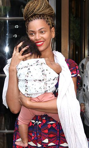 Beyonce and baby Blue Ivy. (INFDaily.com)