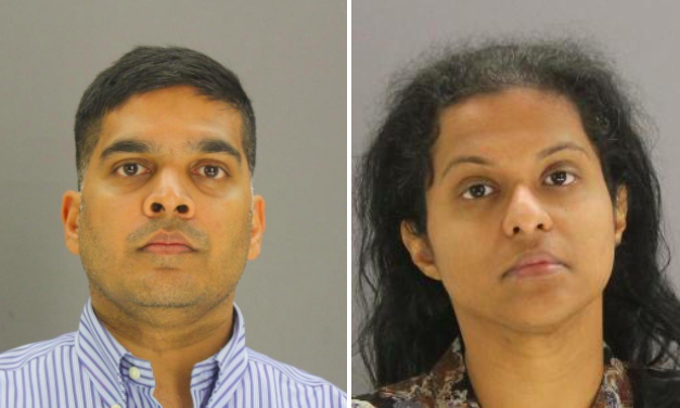 Wesley Mathews, 37, and Sini Mathews, 35, both face charges related to their 3-year-old adopted daughter, Sherin. (Dallas County Jail)