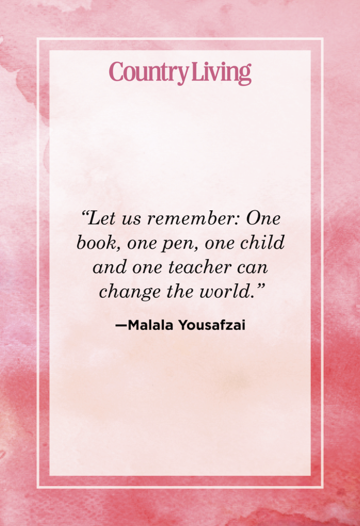 """<p>""""Let us remember: One book, one pen, one child and one teacher can change the world.""""</p>"""