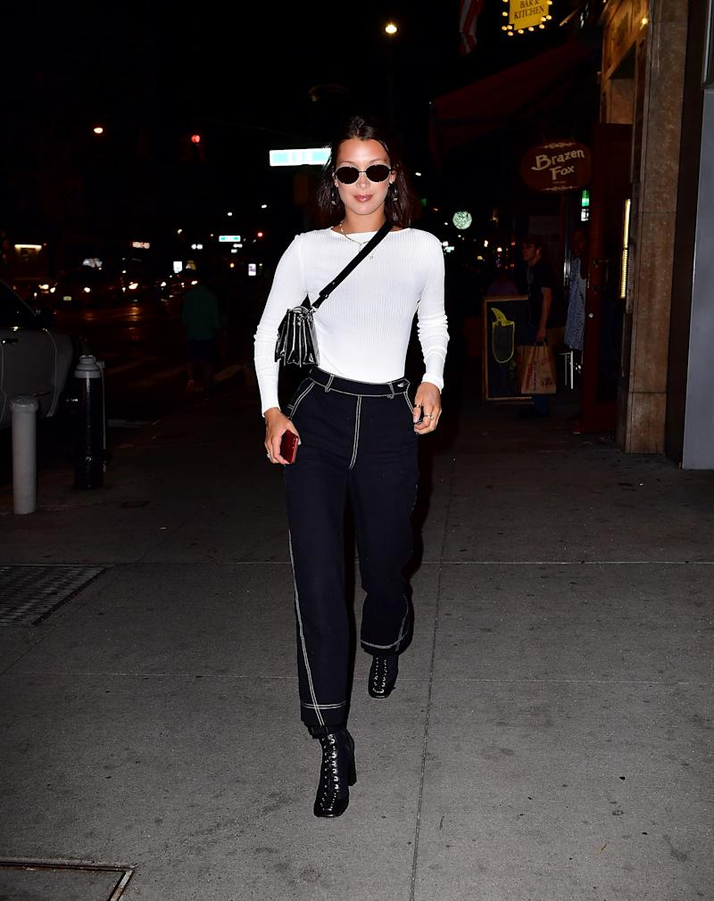 Bella Hadid seen on the streets of Manhattan on June 13, 2017 in New York City.