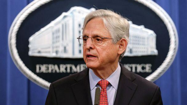 PHOTO: U.S. Attorney General Merrick Garland announces a federal investigation of the City of Phoenix and the Phoenix Police Department during a news conference at the Department of Justice in Washington, August 05, 2021. (Kevin Dietsch/Getty Images)