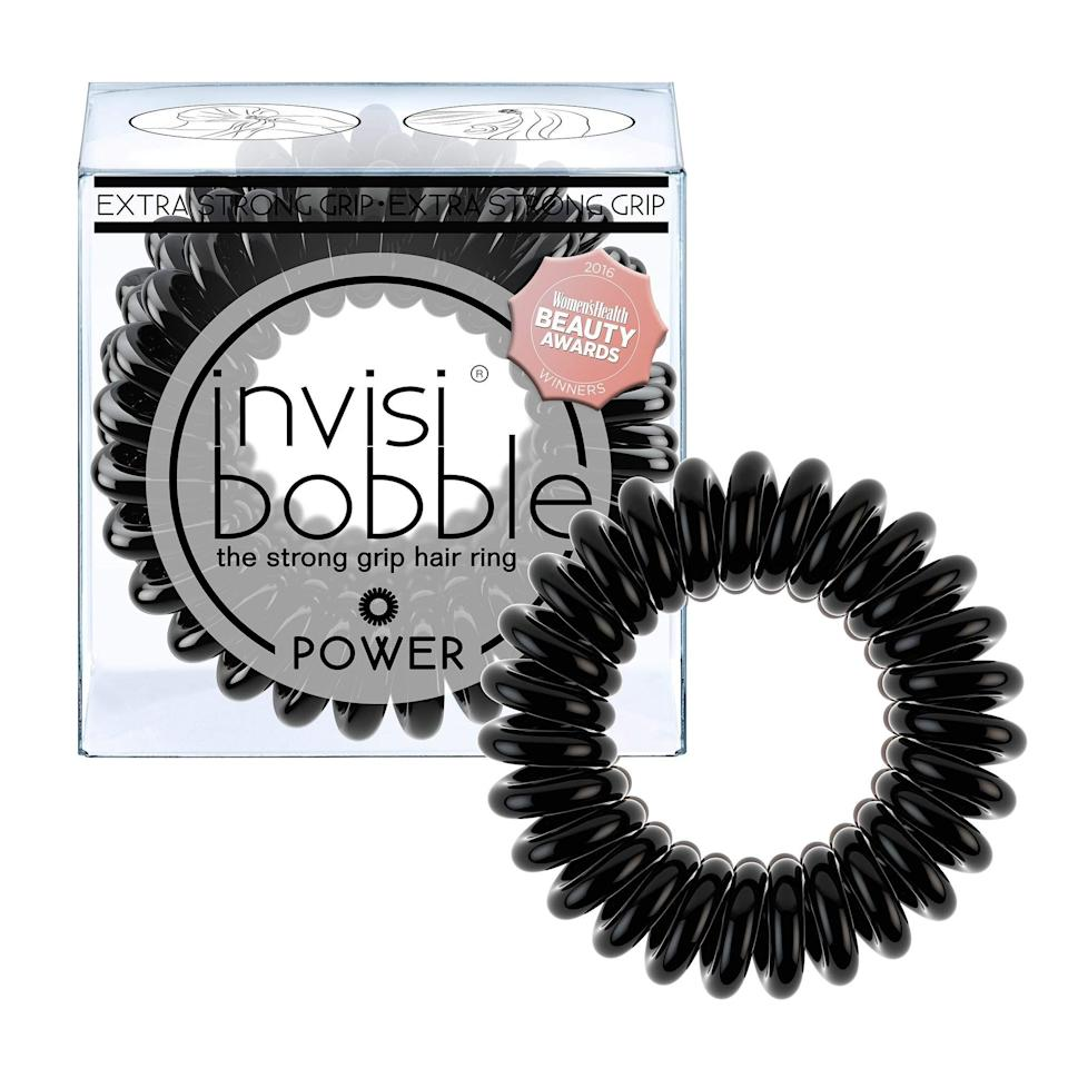 """<h3>invisibobble Hair Ties 3-Pack </h3><br>Readers normally go nuts over carting invisibobble's favorited no-snag hair ties off Amazon — and now that a three-pack of the essentials is currently 34% off during Prime Day, things are heating up. """"These are life-changing. I ordered them on a whim looking for something less damaging than regular ponytails that still held well. I am a runner and need something that keeps my hair secure for long runs. I have long, fine hair and usually need 2-3 regular ponytails to get my hair secure for a run. I have attached pictures of my hair before and after a 7-mile outdoor run in the wonderful Fargo, ND wind. My hair barely moved! I used one invisibobble, wrapped around my hair 3 times to make the bun. There were no kinks in my hair when I took it out of my hair. These seriously work! I can't recommend them enough, I'll definitely be ordering more!"""" one reviewer attests.<br><br> <strong>4.5 out of 5 stars and 2,0805 reviews</strong> <br><br><strong>invisibobble</strong> POWER Hair Ties, True Black (3-Pack), $, available at <a href=""""https://amzn.to/3lIqRir"""" rel=""""nofollow noopener"""" target=""""_blank"""" data-ylk=""""slk:Amazon"""" class=""""link rapid-noclick-resp"""">Amazon</a>"""