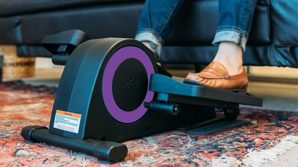 Cubii Jr. Compact Seated Elliptical with Non-Slip Monitor Mat