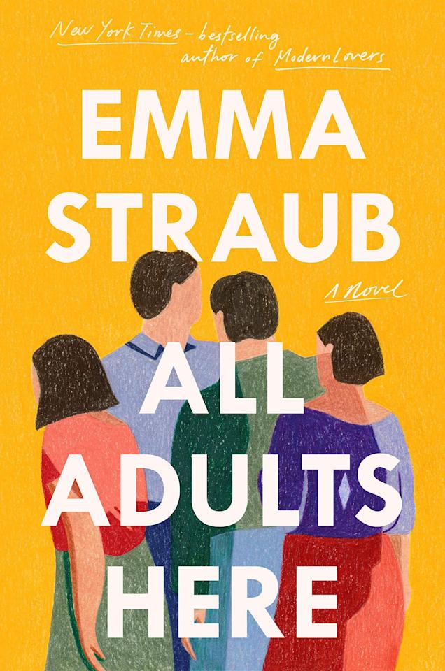 """<p>Emma Straub continues to impress with her keen observations on modern adulthood in <a href=""""https://www.popsugar.com/buy?url=https%3A%2F%2Fwww.amazon.com%2FAll-Adults-Here-Emma-Straub%2Fdp%2F1594634696&p_name=%3Cstrong%3EAll%20Adults%20Here%3C%2Fstrong%3E&retailer=amazon.com&evar1=buzz%3Aus&evar9=47420392&evar98=https%3A%2F%2Fwww.popsugar.com%2Fentertainment%2Fphoto-gallery%2F47420392%2Fimage%2F47420394%2FAll-Adults-Here-by-Emma-Straub&list1=books%2Cmust%20reads&prop13=api&pdata=1"""" rel=""""nofollow"""" data-shoppable-link=""""1"""" target=""""_blank"""" class=""""ga-track"""" data-ga-category=""""Related"""" data-ga-label=""""https://www.amazon.com/All-Adults-Here-Emma-Straub/dp/1594634696"""" data-ga-action=""""In-Line Links""""><strong>All Adults Here</strong></a>. The novel delves into the lives of three adult siblings, all struggling in their own unique way, as their mother thinks back on how she parented her kids, and the ways her actions have informed the adults her children have become. </p> <p><em>Out May 4</em></p>"""
