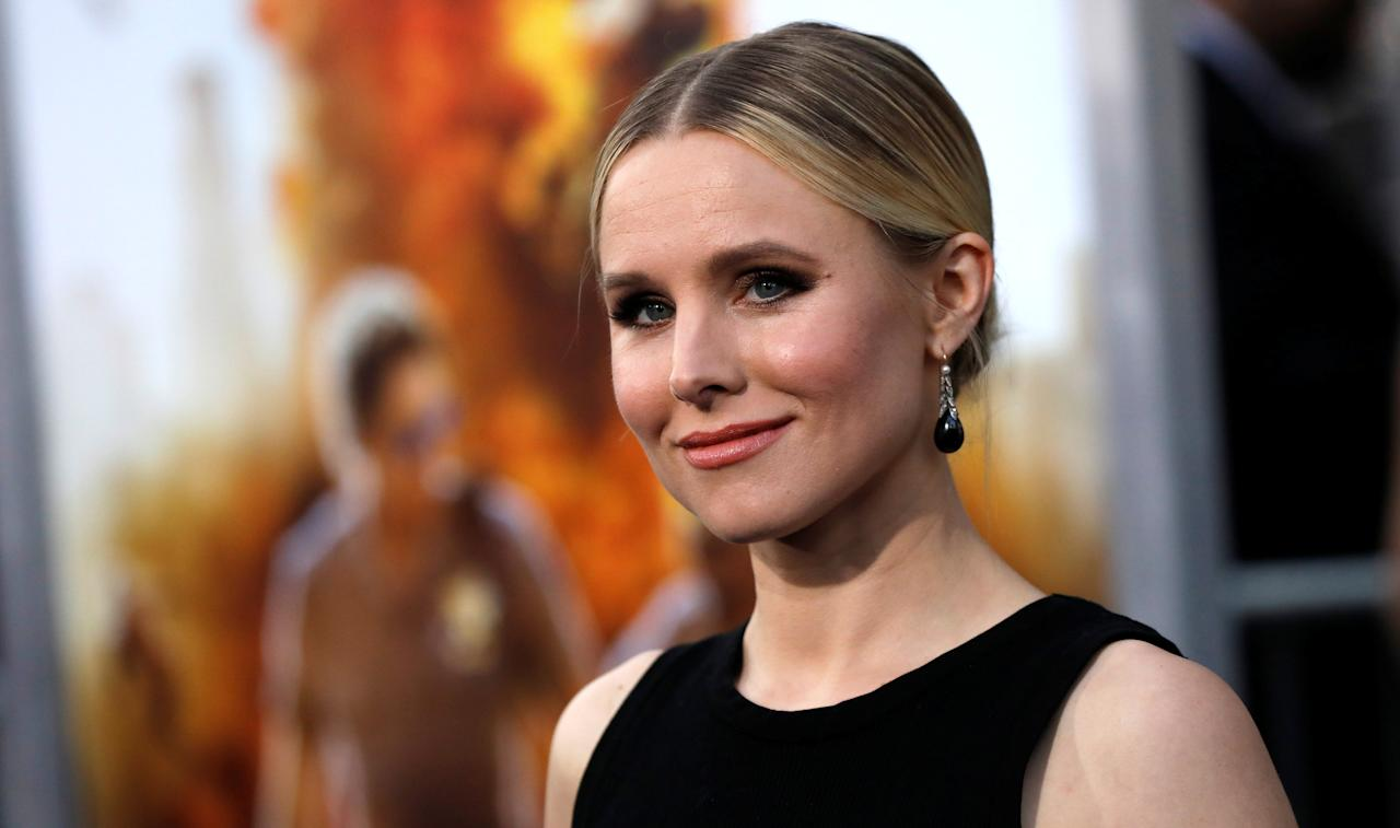 "Cast member Kristen Bell poses at the premiere of ""CHIPS"" in Los Angeles, California U.S., March 20, 2017.   REUTERS/Mario Anzuoni"
