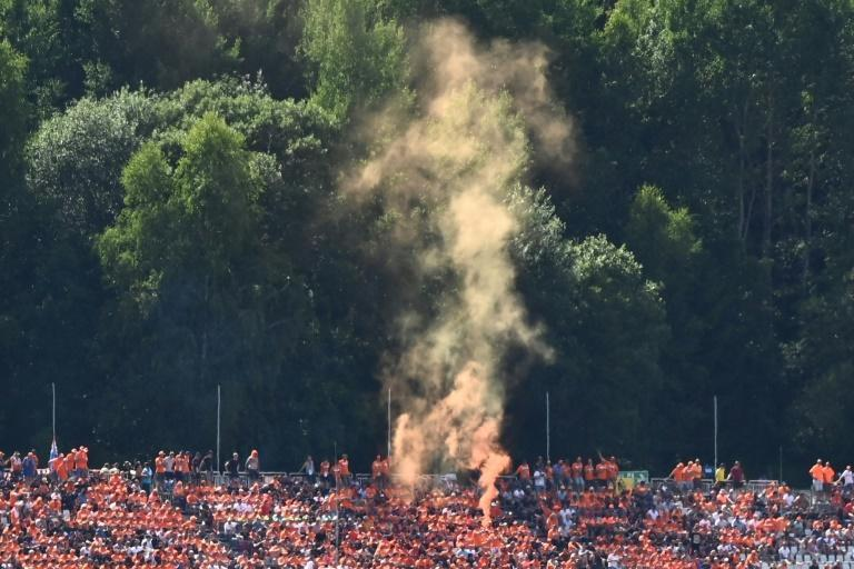 Verstappen had thousands of orange clad fans after the lifting of coronavirus restrictions in Austria