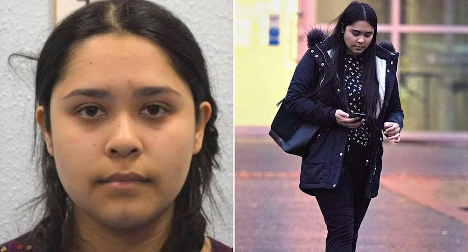 Sneha Chowdhury, 26, who practised knife fights with her jihadist brother as he plotted a terror attack, has been spared jail again. (PA)