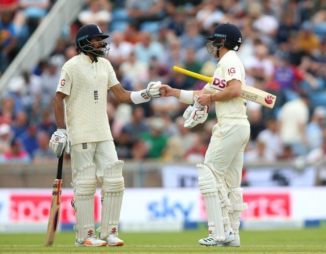 Hameed, left, has added some ballast to England's top-order alongside Rory Burns (Nigel French/PA)