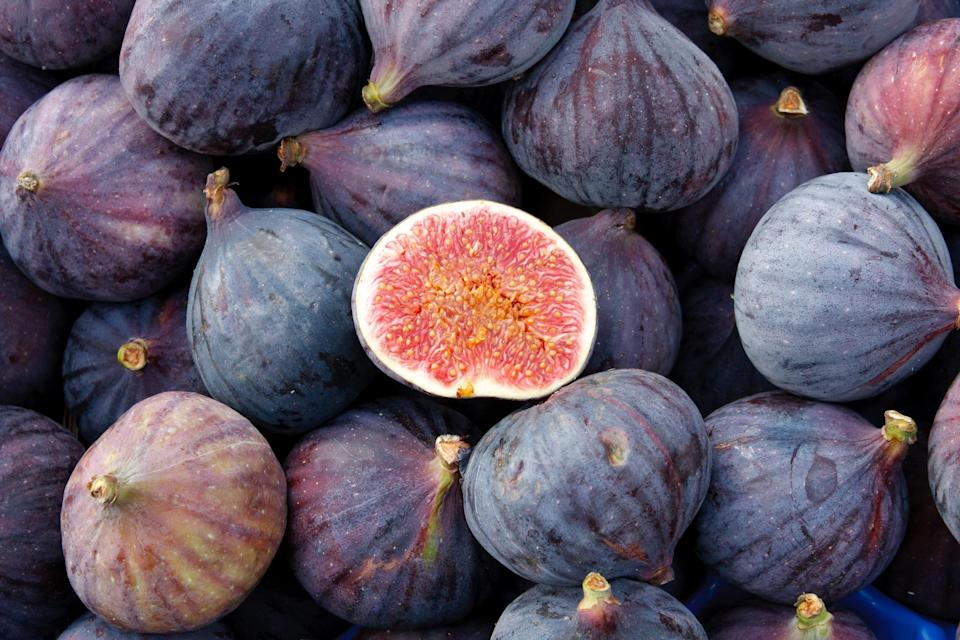 """<p>You can find fresh figs primarily from August through October—they're a phenomenal fall ingredient. Prepare for the holidays by making this <a href=""""https://www.thedailymeal.com/recipes/fig-brandy-and-brandied-figs-recipe?referrer=yahoo&category=beauty_food&include_utm=1&utm_medium=referral&utm_source=yahoo&utm_campaign=feed"""" rel=""""nofollow noopener"""" target=""""_blank"""" data-ylk=""""slk:spirited fig brandy"""" class=""""link rapid-noclick-resp"""">spirited fig brandy</a> or some <a href=""""https://www.thedailymeal.com/recipes/diy-dried-fruit-recipe?referrer=yahoo&category=beauty_food&include_utm=1&utm_medium=referral&utm_source=yahoo&utm_campaign=feed"""" rel=""""nofollow noopener"""" target=""""_blank"""" data-ylk=""""slk:dried fruit"""" class=""""link rapid-noclick-resp"""">dried fruit</a>. If you want your fig fix now, <a href=""""https://www.thedailymeal.com/recipes/fig-fruit-spread-recipe?referrer=yahoo&category=beauty_food&include_utm=1&utm_medium=referral&utm_source=yahoo&utm_campaign=feed"""" rel=""""nofollow noopener"""" target=""""_blank"""" data-ylk=""""slk:turn them into a spread"""" class=""""link rapid-noclick-resp"""">turn them into a spread</a> or serve as a sweet garnish on a <a href=""""https://www.thedailymeal.com/charcuterie-board-shopping-list-ideas-holidays-thanksgiving?referrer=yahoo&category=beauty_food&include_utm=1&utm_medium=referral&utm_source=yahoo&utm_campaign=feed"""" rel=""""nofollow noopener"""" target=""""_blank"""" data-ylk=""""slk:pretty seasonal charcuterie board"""" class=""""link rapid-noclick-resp"""">pretty seasonal charcuterie board</a>.</p>"""