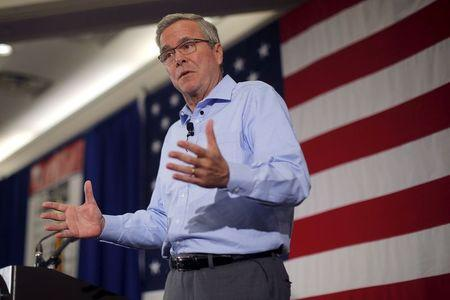 Former Florida Governor and probable 2016 Republican presidential candidate Jeb Bush speaks at the First in the Nation Republican Leadership Conference in Nashua