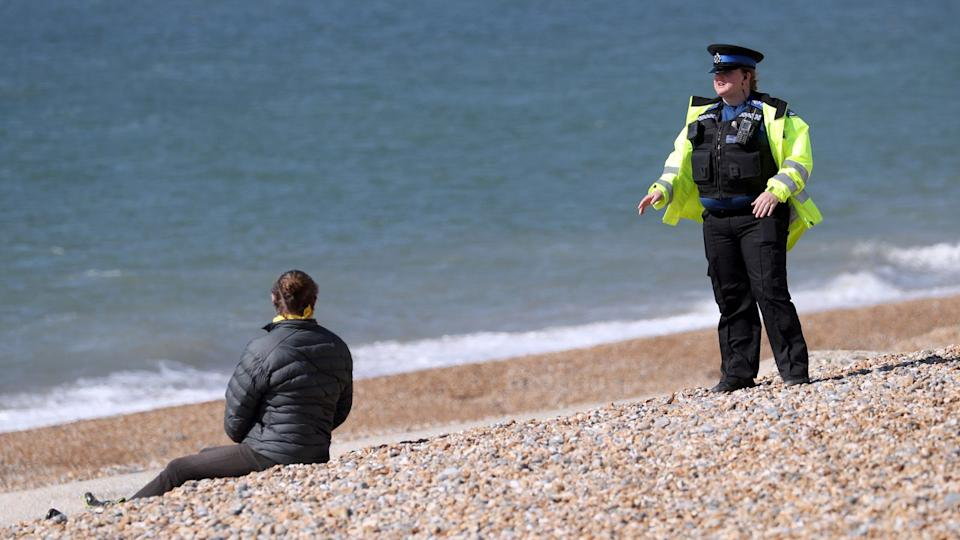Although 42% of those polled say they support the police's approach, 32% said some officers had gone too far