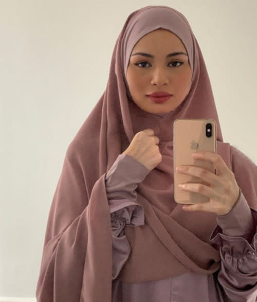 Izara Aishah surprised many earlier with a photo of her in hijab
