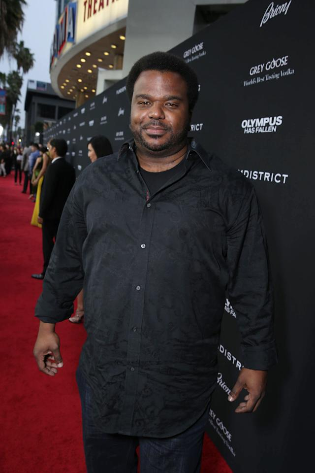 Craig Robinson at FilmDistrict's Premiere of 'Olympus Has Fallen' hosted by Brioni and Grey Goose at the ArcLight Hollywood, on Monday, March, 18, 2013 in Los Angeles. (Photo by Eric Charbonneau/Invision for FilmDistrict/AP Images)