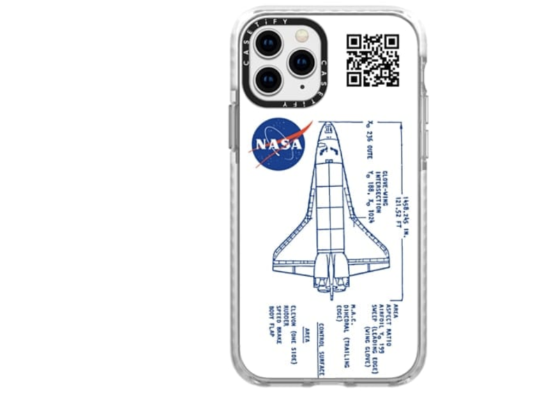 Blueprint NASA shuttle case. (PHOTO: Casetify)