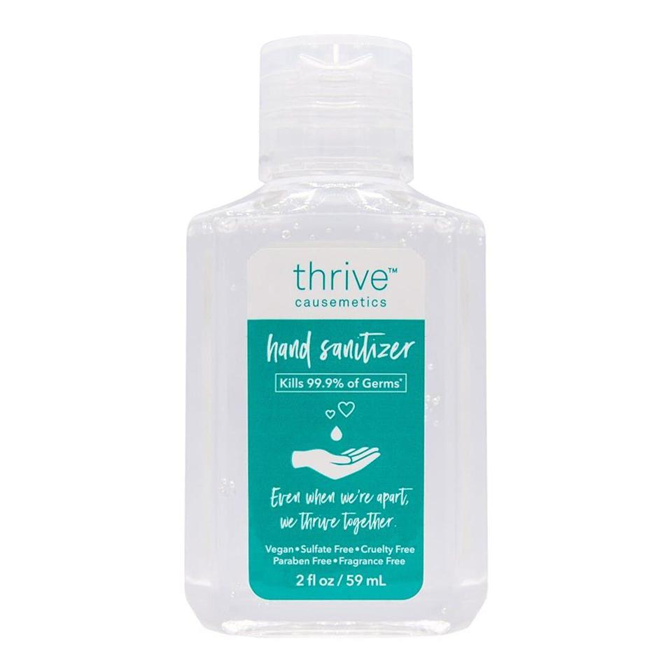 "<p>thrivecausemetics.com</p><p><strong>$3.00</strong></p><p><a href=""https://thrivecausemetics.com/products/moisture-enriched-hand-sanitizer"" rel=""nofollow noopener"" target=""_blank"" data-ylk=""slk:SHOP NOW"" class=""link rapid-noclick-resp"">SHOP NOW</a></p><p>This two-ounce, 67% ethanol sanitizer is more than just a product—it's a donation. <strong>All profits from these bottles go directly to <a href=""https://bwhi.org/"" rel=""nofollow noopener"" target=""_blank"" data-ylk=""slk:Black Women's Health Imperative"" class=""link rapid-noclick-resp"">Black Women's Health Imperative</a></strong>, a nonprofit that advances the health and wellness of Black women and girls.</p>"