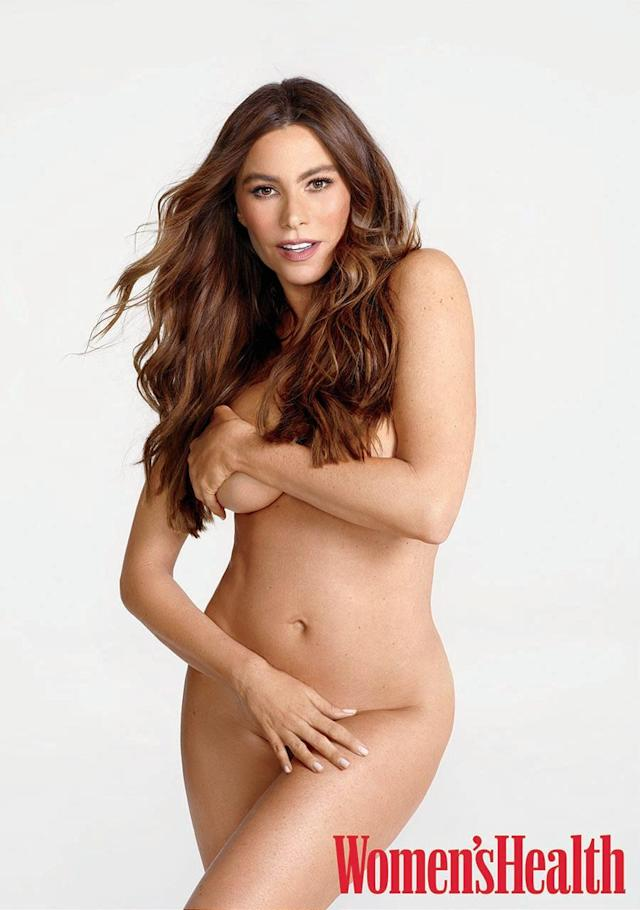 Sofia Vergara strategically covered up. (Photo: Matthias Vriens-McGrath)