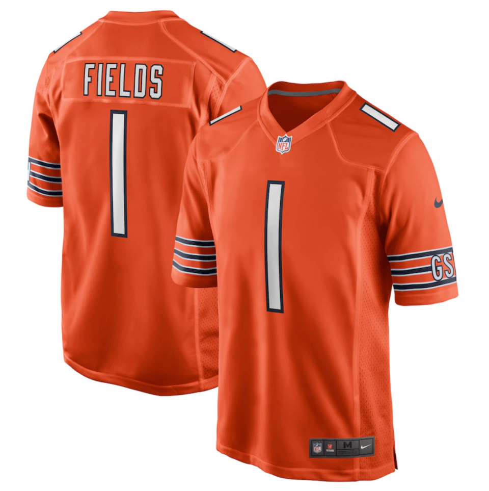 Justin Fields Chicago Bears Nike 2021 NFL Draft First Round Pick Alternate Game Jersey