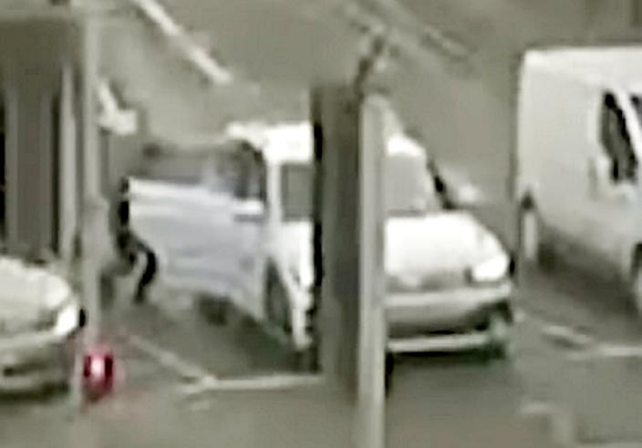 A theft victim described the moment a complete stranger slipped into the back seat of her car while stuck in traffic as