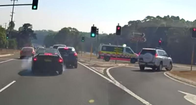 People slammed the dangerous drivers and weren't surprised someone ended up with a damaged bumper. Source: Facebook/Dash Cam Owners Australia