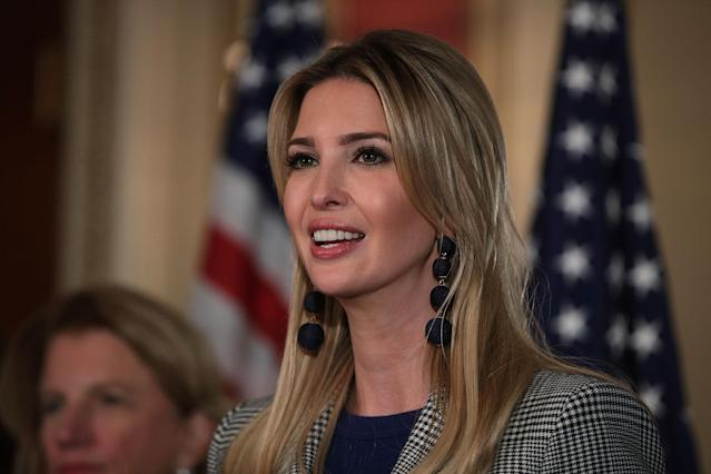Ivanka Trump, adviser and daughter of President Trump, speaks during a news conference at the Capitol on Oct. 25. (Photo: Alex Wong/Getty Images)