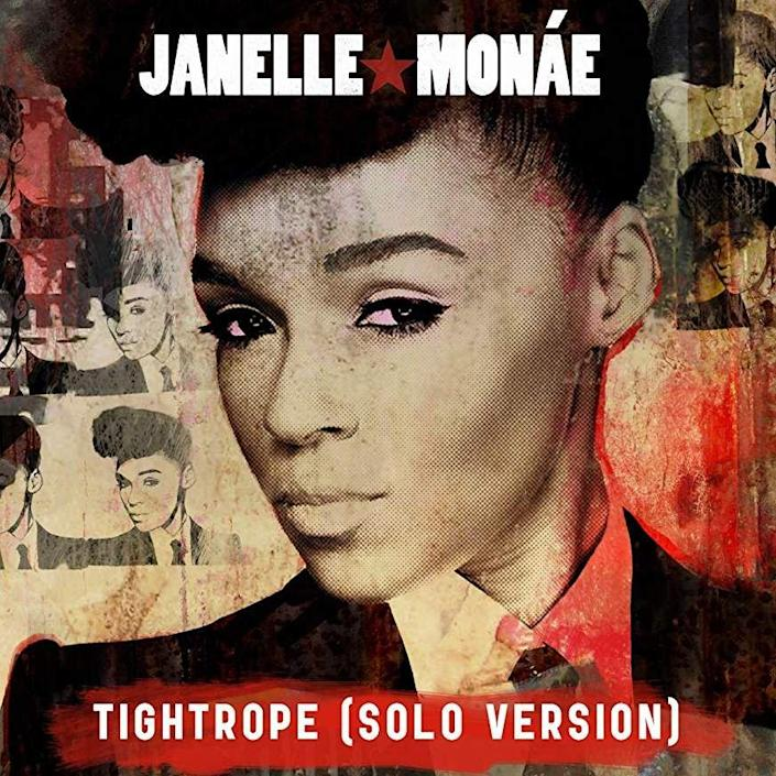 "<p><a href=""https://www.oprahmag.com/entertainment/tv-movies/a23652733/upcoming-janelle-monae-movies/"" rel=""nofollow noopener"" target=""_blank"" data-ylk=""slk:Janelle Monáe"" class=""link rapid-noclick-resp"">Janelle Monáe</a>'s ""Tightrope"" is all about keeping a can-do attitude in the midst of naysayers. When you need an extra boost of confidence or just need an anthem to sing along to while pumping your fists in the air, play this catchy, futuristic song. </p><p><a class=""link rapid-noclick-resp"" href=""https://www.amazon.com/Tightrope-Janelle-Mon%C3%A1e/dp/B0040I73US/?tag=syn-yahoo-20&ascsubtag=%5Bartid%7C10072.g.23118484%5Bsrc%7Cyahoo-us"" rel=""nofollow noopener"" target=""_blank"" data-ylk=""slk:LISTEN NOW"">LISTEN NOW </a></p>"