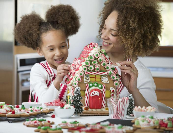 """<p>Decorate an entire village of gingerbread houses together and then give out various awards (think: """"most creative,"""" """"most delicious,"""" and """"most realistic"""").</p>"""