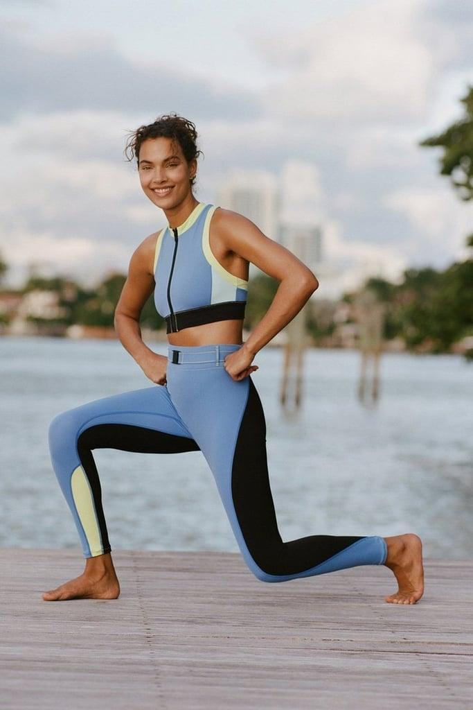 """<p>""""Solid &amp; Striped Sport's fun activewear will be my go-to this spring. I got to test out the <span>Trek Belt Bag Leggings</span> ($128), which feature a high waist and comfortable, lightweight fabric. I love that these leggings also include matching belt bag, which is perfect for holding my keys and hand sanitizer when I walk my dog or go hiking. They're the first leggings I've ever had with a matching belt pouch and now I want every pair of leggings I own to have a corresponding bag. I'd highly recommend these to any fitness instructor who wears a mic pack as the belt bag is the perfect place to store it."""" – GF</p>"""