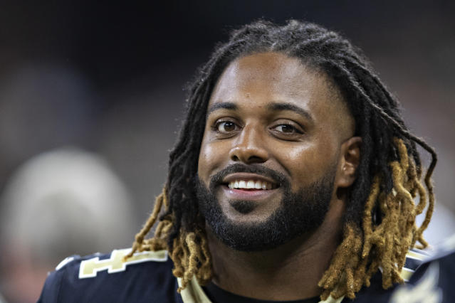 Cam Jordan sounds pleased that the Browns didn't end up selecting him on draft day in 2011. (Getty)