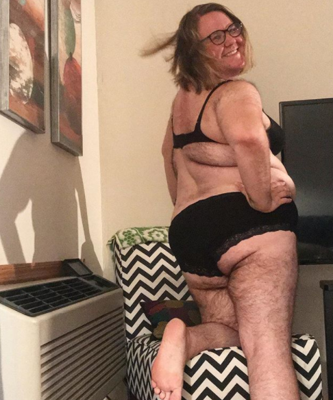 After shaving for most of her life, Leah gave up last year and has embraced her body. Photo: Instagram/happyandhairy