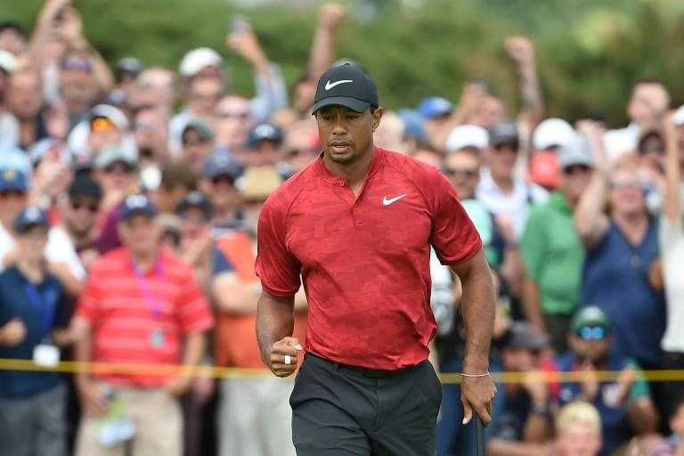 US golfer Tiger Woods, pictured July 2018, will tee off in the opening round of the US PGA Dell Technologies Championship, seeking his first victory in more than five years