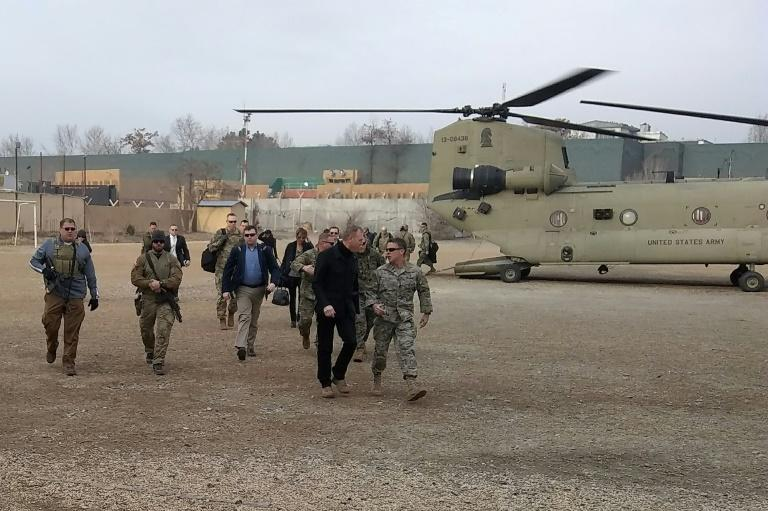 Acting Pentagon chief Patrick Shanahan visited Kabul last month, where the United States is seeking to support the Afghan government while negotiating peace with the Taliban