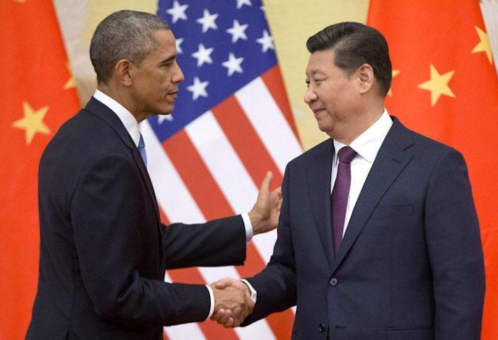 President Obama with Chinese President Xi Jinping at a news conference in Beijing in November 2014. (Photo: Pablo Martinez Monsivais/AP/File)