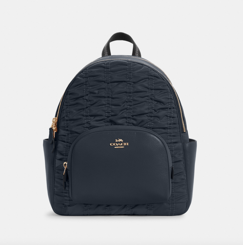 black coach outlet Court Backpack with Ruching