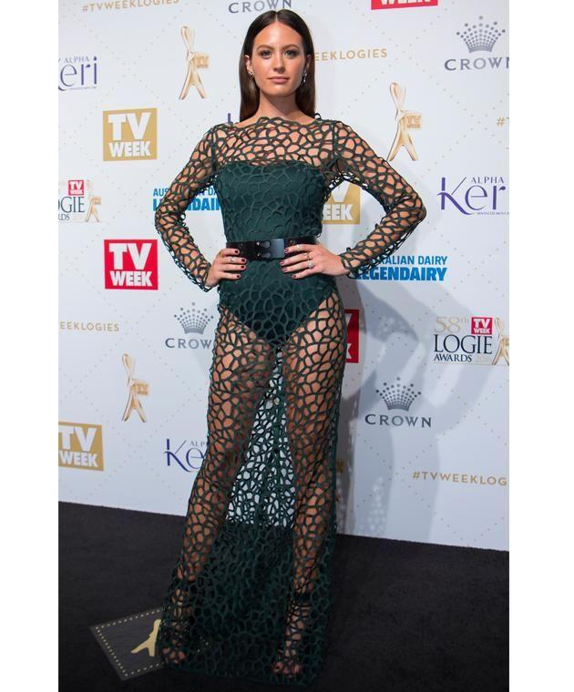 Jesinta Campbell arrived at the Logie Awards in this stunning Camilla and Marc dress.
