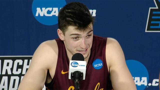 The Loyola Chicago guard speaks about his last-second shot to beat Tennessee, lifting the Ramblers to the Sweet 16 of the NCAA tournament for the first time since 1985.