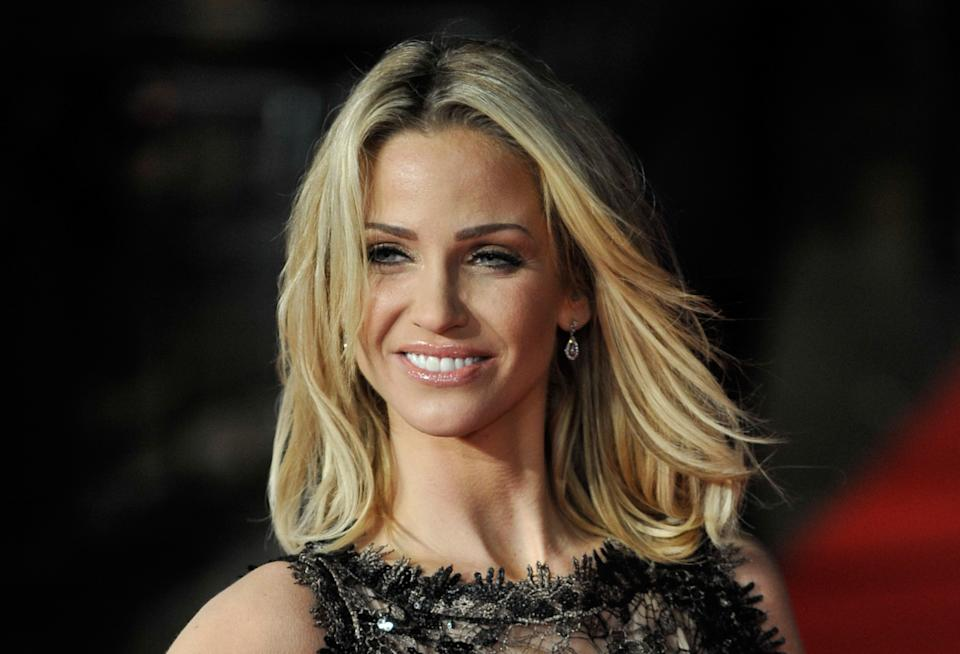 Sarah Harding, photographed here in 2012, revealed the news on social media. (Getty Images)