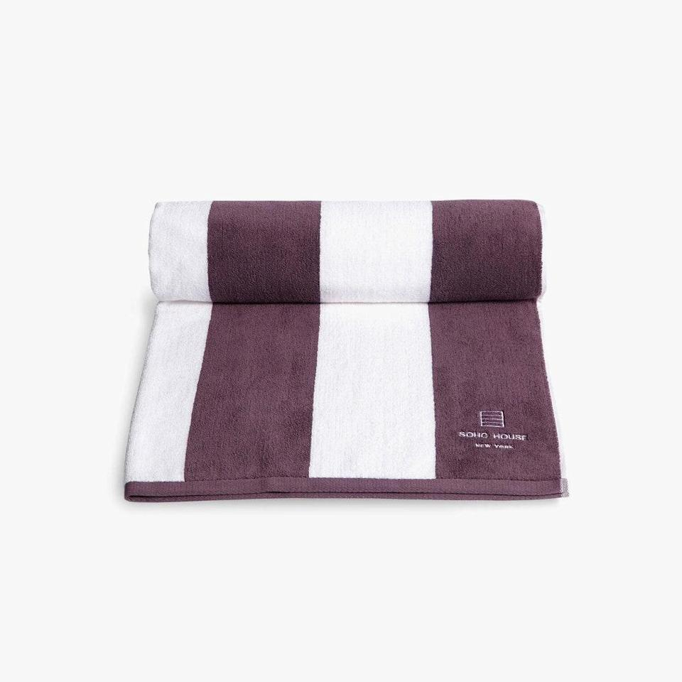 """$85, SOHO HOME. <a href=""""https://www.sohohome.com/us/products/house-pool-towel-new-york/72839007"""" rel=""""nofollow noopener"""" target=""""_blank"""" data-ylk=""""slk:Get it now!"""" class=""""link rapid-noclick-resp"""">Get it now!</a>"""
