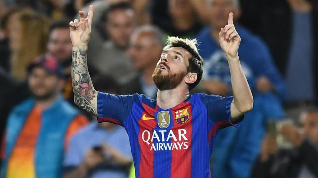 Lionel Messi Barcelona Manchester City Champions League