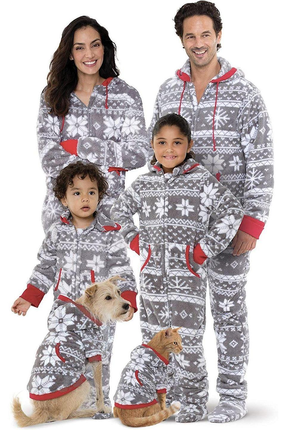 """<p><strong>PajamaGram</strong></p><p>Starting from $25</p><p><a href=""""http://www.amazon.com/dp/B01M18JTQ0/?tag=syn-yahoo-20&ascsubtag=%5Bartid%7C10055.g.4946%5Bsrc%7Cyahoo-us"""" rel=""""nofollow noopener"""" target=""""_blank"""" data-ylk=""""slk:Shop Now"""" class=""""link rapid-noclick-resp"""">Shop Now</a></p><p>If you're a warm-climate family visiting cold-climate relatives, this especially warm set of PJs will help you adjust to a chillier-than-usual Christmas morning.</p>"""