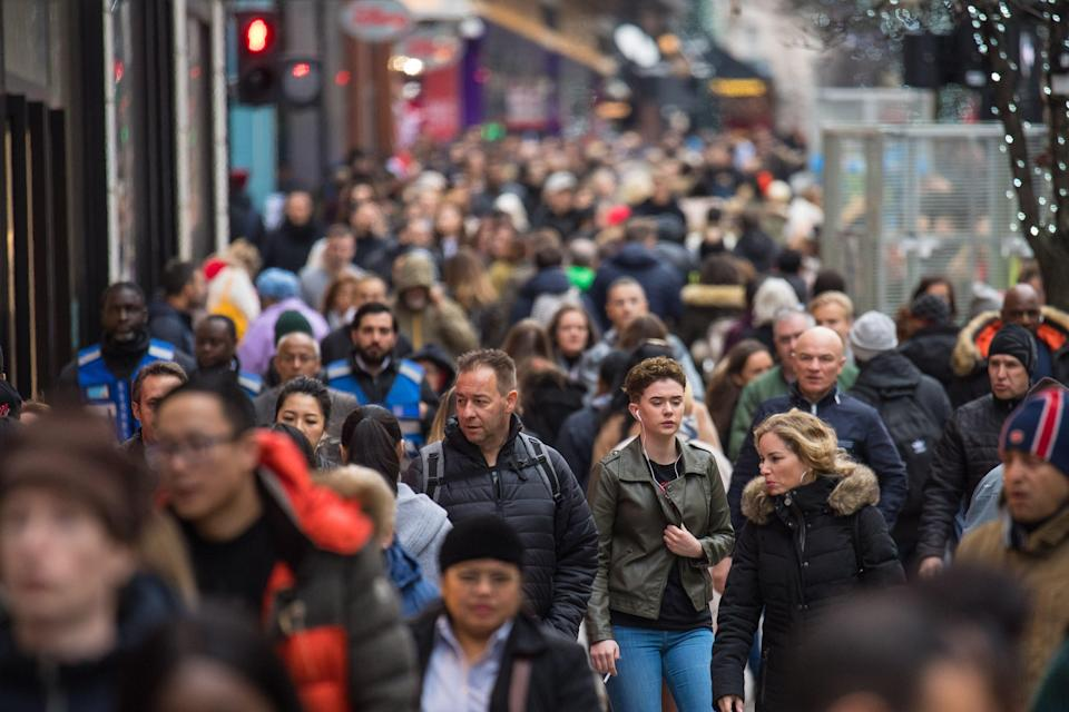 The UK population grew by an estimated 0.4% in the 12 months to June 2020 (PA)