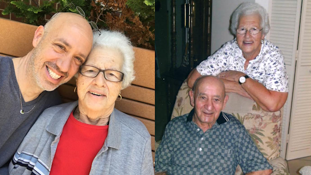 Robert Verdi and his mother, Maria, left; Verdi's parents, right. Maria was her husband Jean's sole caregiver after he was diagnosed with Alzheimer's disease in 2005. (Photo: Courtesy of Robert Verdi)